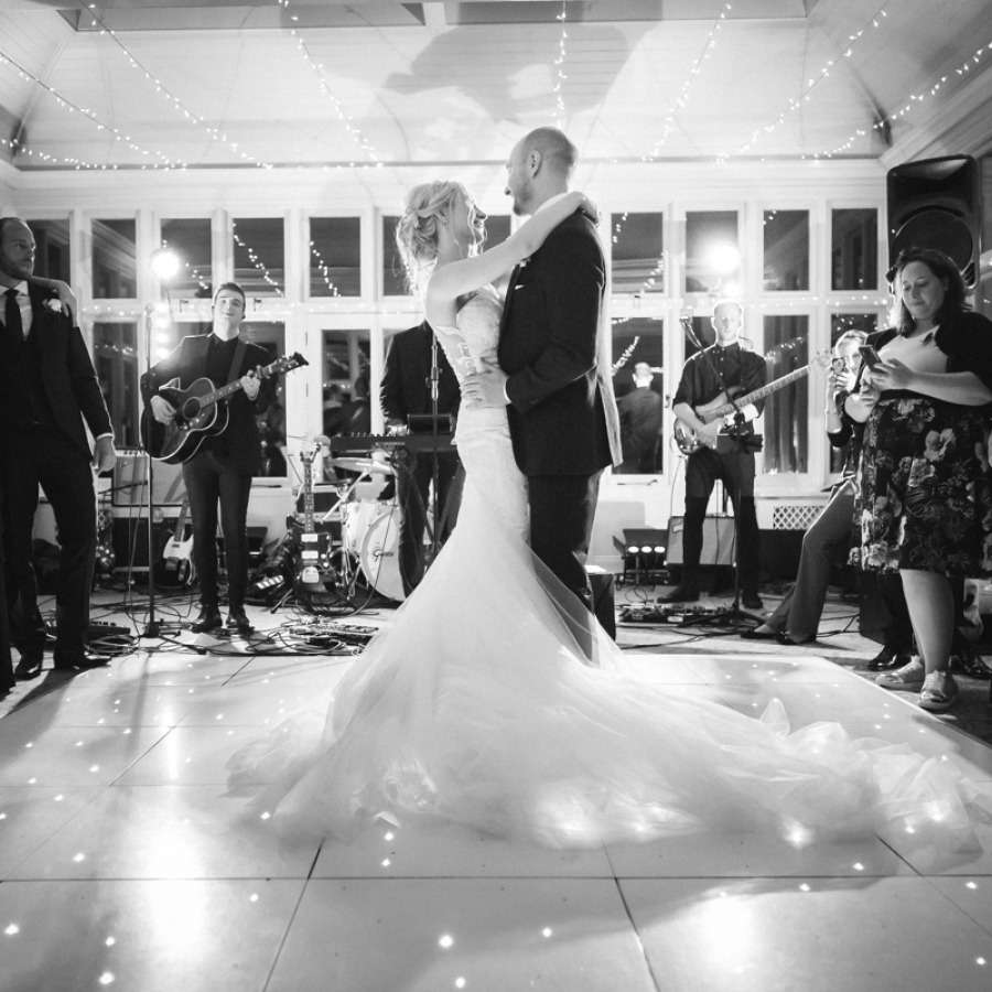 the chambers performing 1st dance